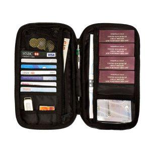 portadocumentos de viaje con rfid